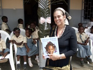 Sharon Dennis Wyeth, poet and author in Kribii Cameroon